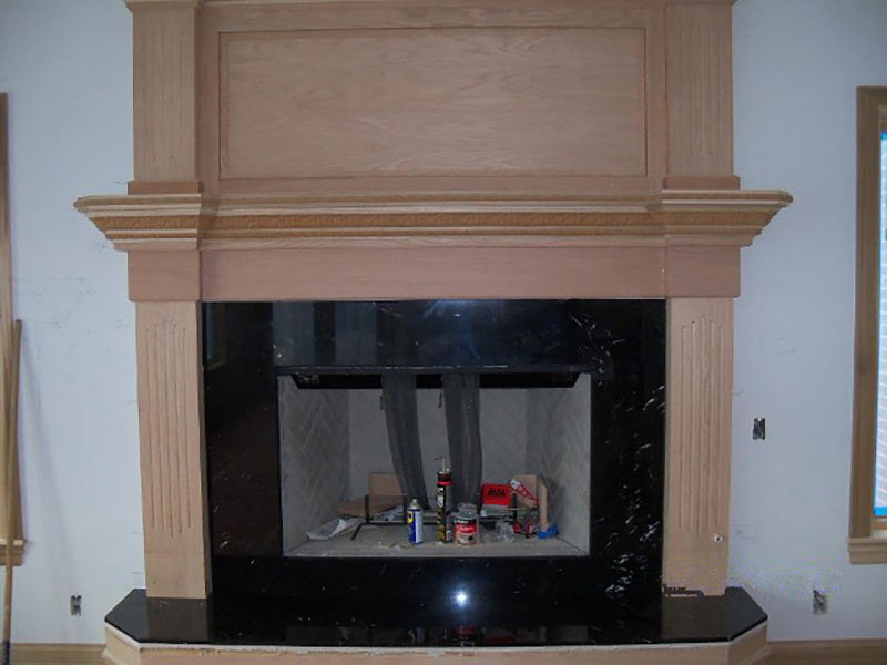 Grigio Carnico Marble fireplace surround and hearth.