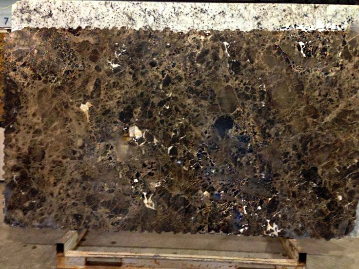 Polished Emperador Dark marble slab