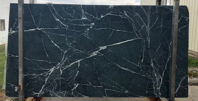 High contrast movement in this slab of Mystic Soapstone.