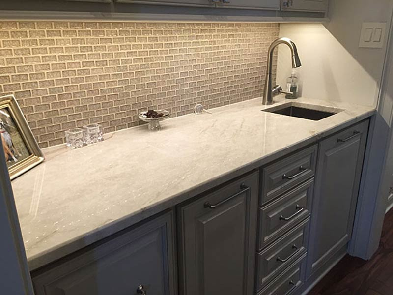 Taj Mahal Quartzite Wet Bar