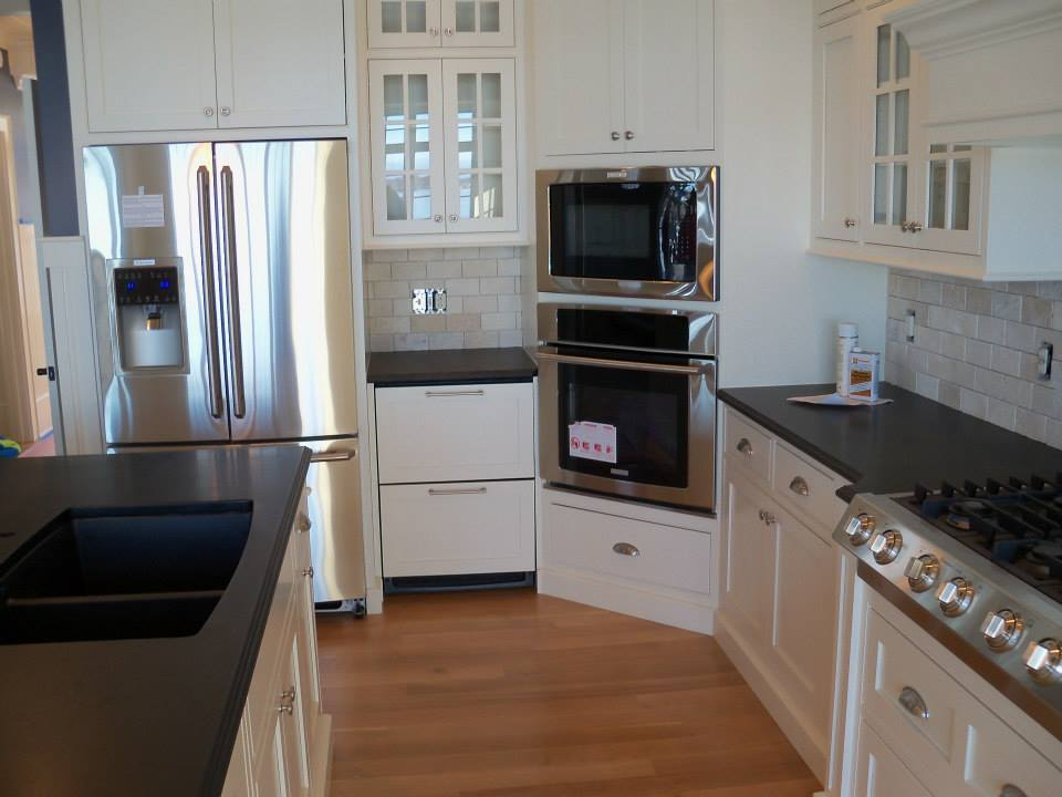 Absolute Granite kitchen counters and kitchen island