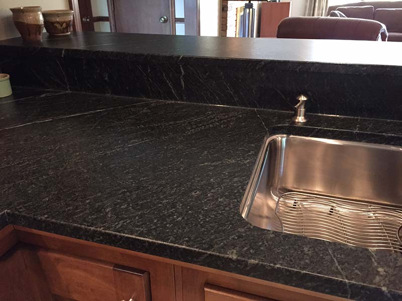 Oiled soapstone counter