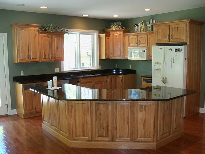 Uba Tuba Granite kitchen counter and island.