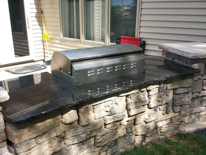 Black Coffee Granite was used in this outdoor kitchen and bbq.