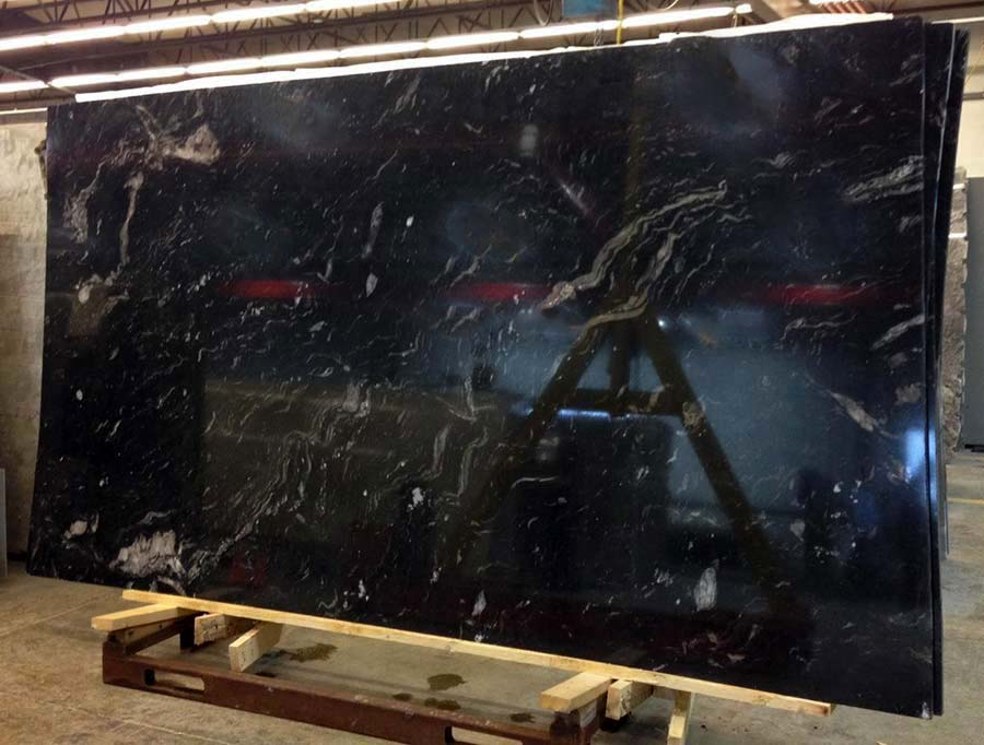 Polished Titanium Granite Slab